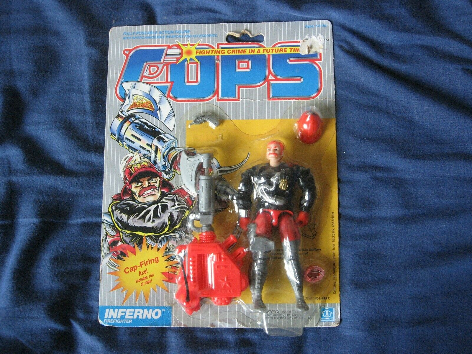 Cops N Crooks Inferno MOC Hasbro 1988 (Worldwide Shipping)