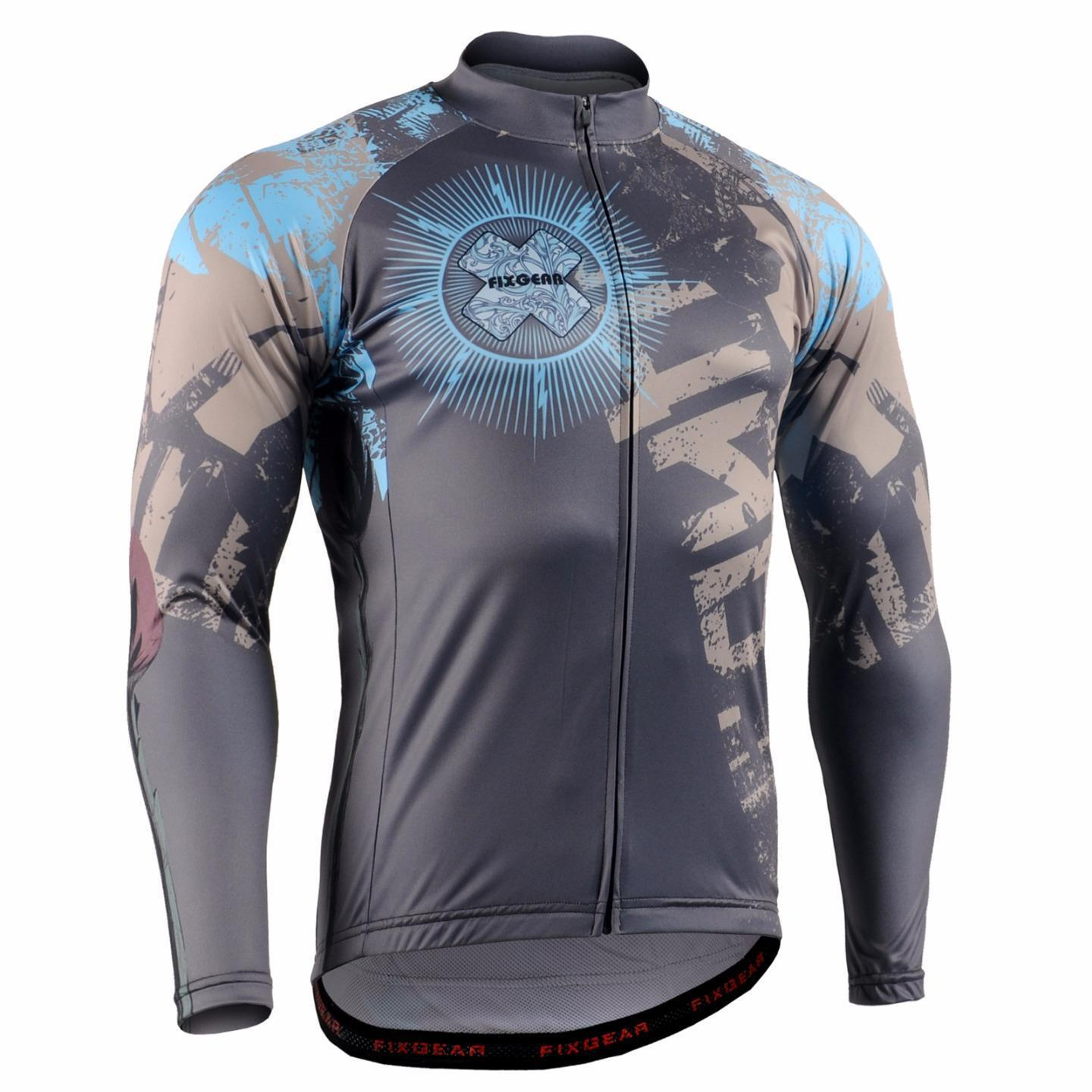 FIXGEAR CS-7901 Men's Long Sleeve Cycling Jersey Bicycle Apparel Roadbike MTB
