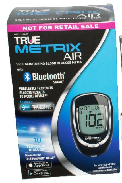6 True Metrix Air Blood Glucose Meter Kit Bluetooth Smart 2 Dock S