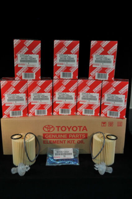 04152-YZZA5, Qty 10, Toyota Oil Filters With Drain Plug Gaskets