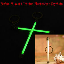 80*5mm 25 Years Tritium Fluorescence Keychain Luminous Light Emergency Marker