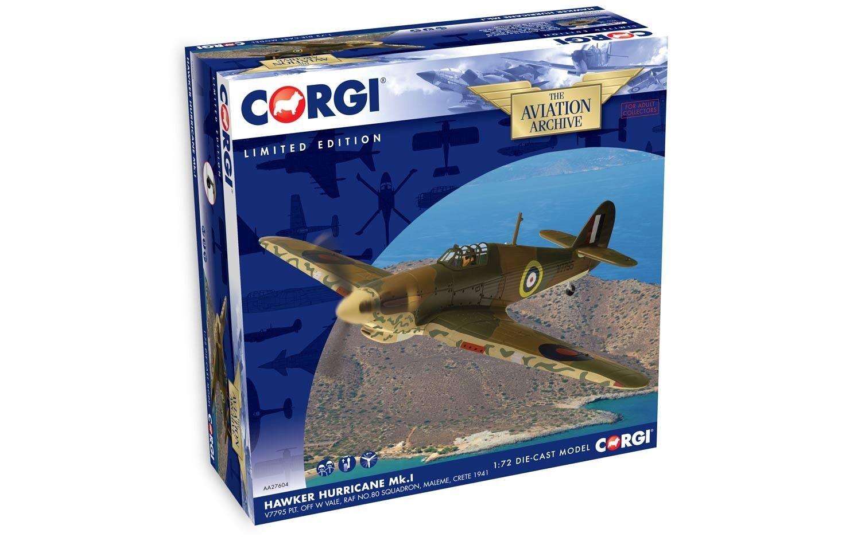 orden ahora disfrutar de gran descuento Corgi AA27604 1 72 Hawker Hurricane Hurricane Hurricane Mk. I V7795 PLT. off W Vale Royal Air Force No.80 sqn  barato