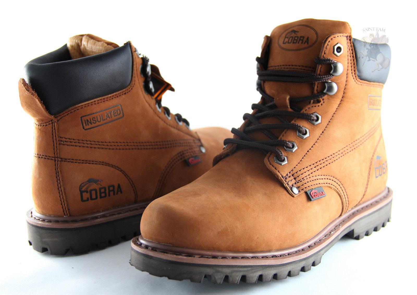 Men Work Boot Cobra C11 Brown Genuine Leather Goodyear Welt Construction New