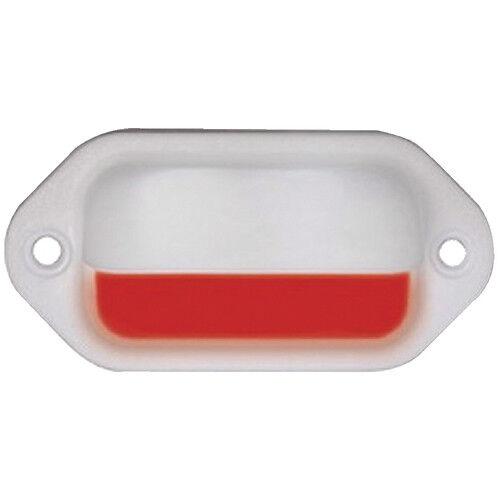 Marine/Boat LED Companion Way Courtesy Accent LED Red Light White Bezel