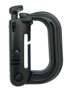 2-Soportes-mosqueton-molle-D-negro-pareja-ABS-accesorio-tactico-black-lock