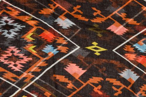 Écharpe avec géométriques Print Motif Loopschal LOOP Foulard Chiffon Multicolore NEUF