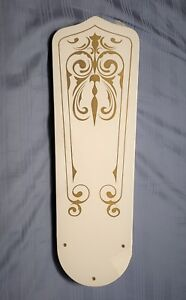 Rare Sealed Vintage Evergo Hugger Ceiling Fan Blades White
