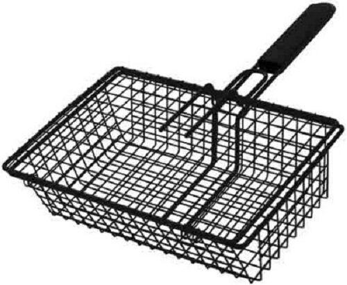 "Grill Pro Non-Stick Black Broiler Basket 11/"" x 7.75/"" x 3.5/"" New 24080"
