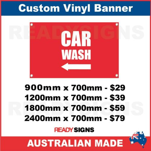 ARROW CAR WASH CUS VINYL BANNER SIGN Australian Made