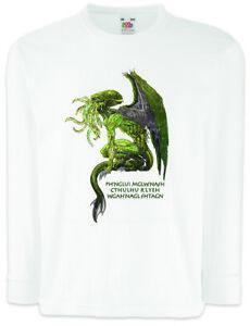 CTHULHU-X-Kinder-Langarm-T-Shirt-Wars-Horror-Arkham-Miskatonic-Lovecraft-Dunwich
