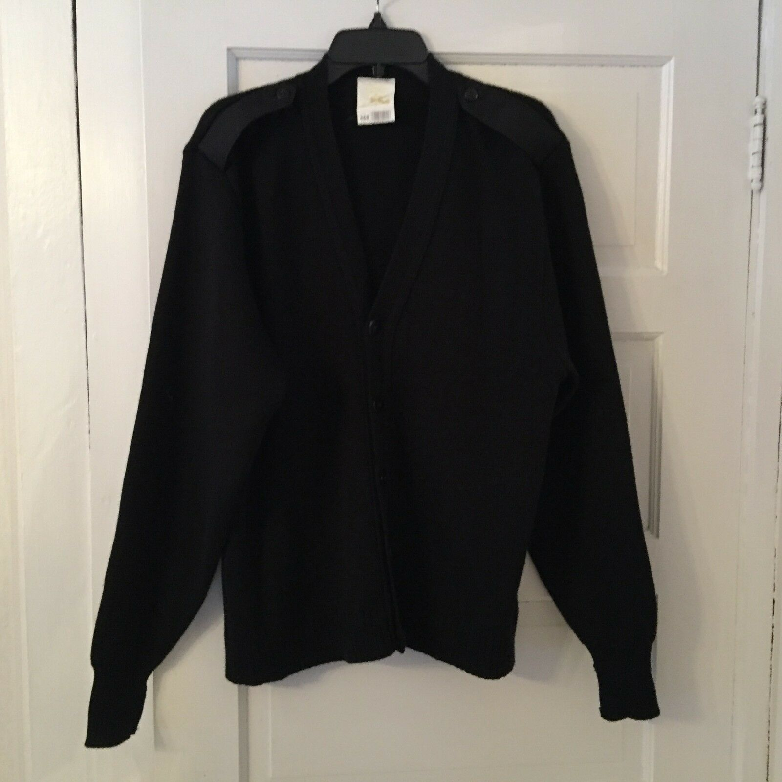 Men's Military Equipment Wool Blend Sweater, Size 46R, Elbow Patches