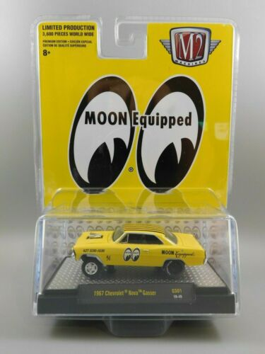 M2 Machines 2020 Hobby Exclusive Mooneyes 1967 CHEVROLET NOVA GASSER 1:64 Scale