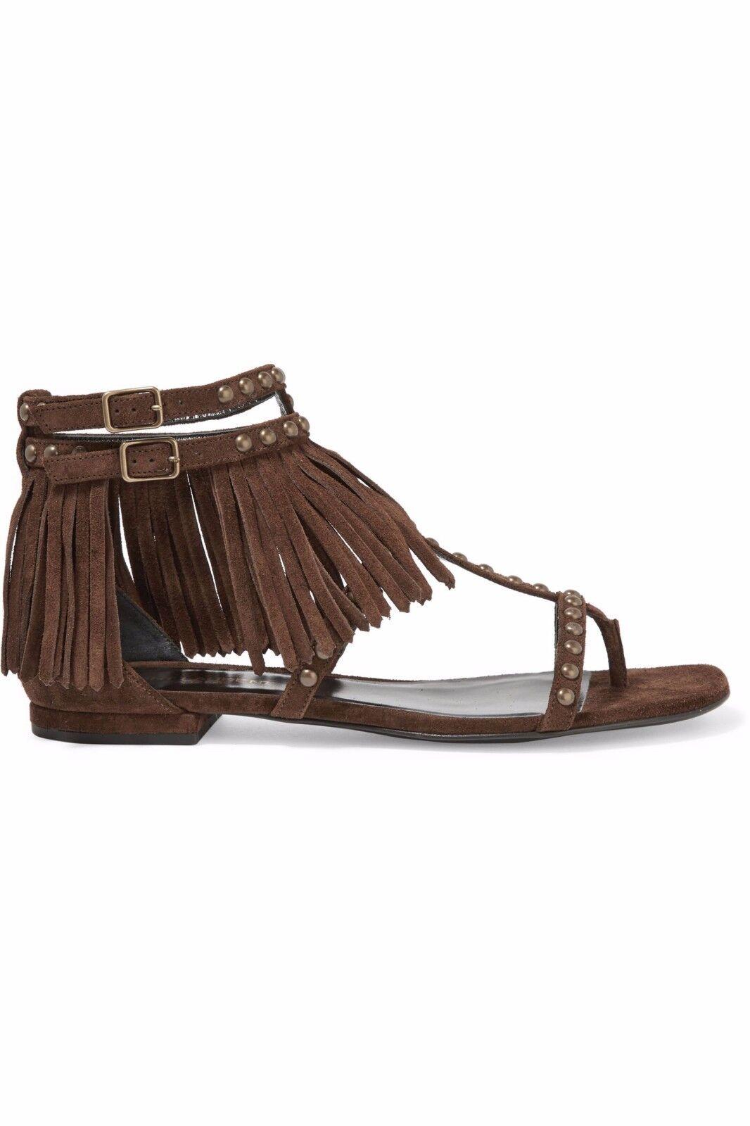 Ysl saint laurent Gladiator sandalias de cuero marrón nuevo embalaje original