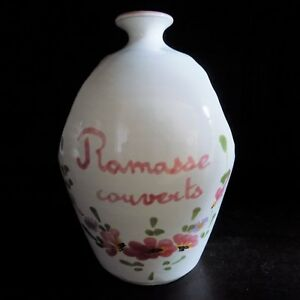 Vintage-Vallauris-Pottery-Pot-Signed-art-French-Hand-Painted-Mid-Century-Floral