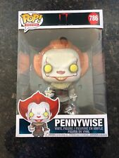 """Figure Funko New /& Sealed Pennywise 10/"""" #786 POP IN STOCK IT Chapter 2"""