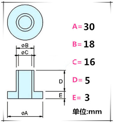 30Pcs M16 Insulation column washer T-type Step Nylon Casing Plastic Screw Gasket