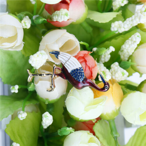Red-Crowned Crane Brooch Pins Brooches Upscale Corsage Brooch Jewelry Women LDUK