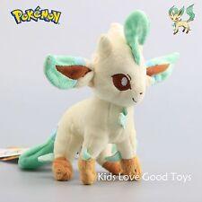 japan import Pokemon Center Plush Toy Original Sit pose LEAFEON