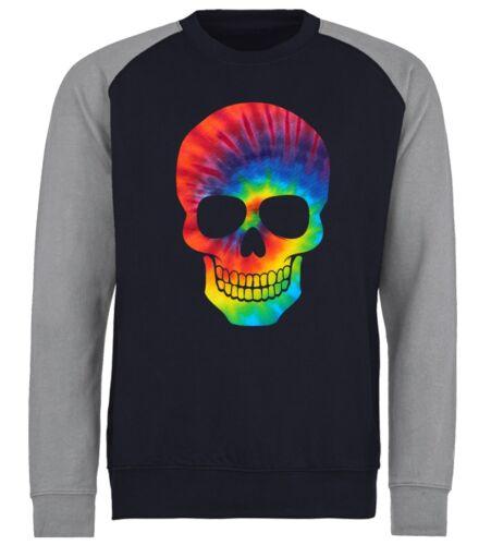 Tie Dye Patterned Skull Unisex Sweater Sweatshirt Jumper