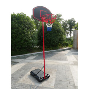 27'' x 18'' Backboard Adjustable Basketball Hoop System Outdoor Stand w/ Wheels