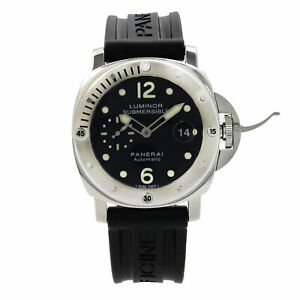 Panerai Luminor Submersible Stainless Steel Rubber Automatic Mens Watch PAM00024