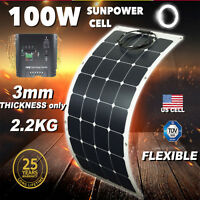 100W 100 Watt 12V Bendable Flexible Thin Lightweight Solar Panel Battery Charger