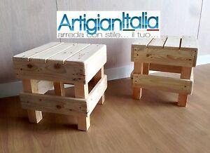 Sgabello puff pouf sedia in legno design panca per bar soggiorno
