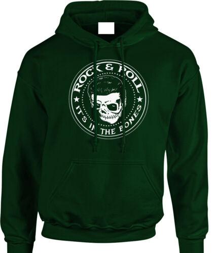 Rock /& Roll Hoody Biker Men/'s Rocker Hoodie Sweatshirt Rockabilly Psychobilly