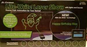 image is loading mr christmas programmable lite write laser show nib