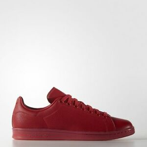 online store be9b1 b27ad Image is loading Mens-Adidas-Originals-Stan-Smith-Adicolor-Shoes-Red-
