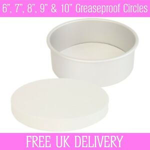 De S About Greaseproof Circles  9 10 Inch Round Baking Paper Tin Liners