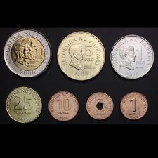 Philippines set 6 coins 1 5 25 sentimo 5 10 piso 2017-2018 New Generation UNC