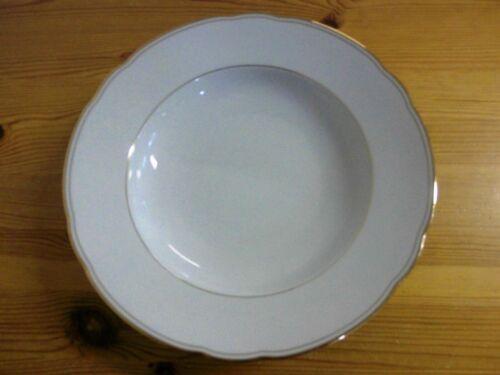 Bogenrand Alter Suppenteller Goldrand Bavaria Schirnding Porzellan weiß