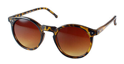 RETRO PERFECT Round Designer Style Tortoiseshell Sunglasses Brown Lenses johnny