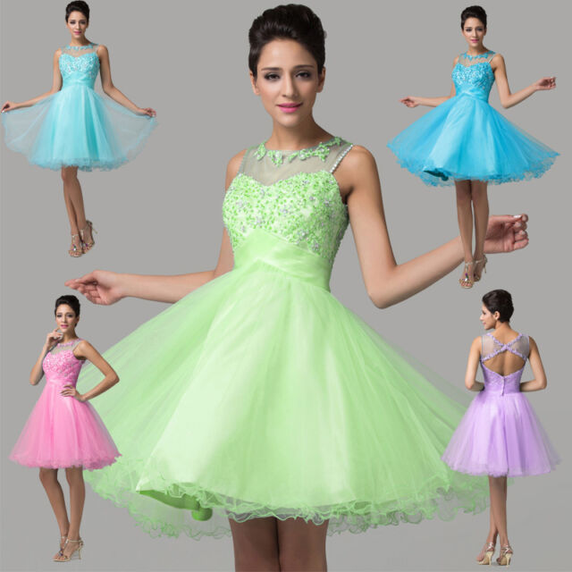 FREEP&P Short Homecoming Bridesmaid Prom Party Cocktail Tutu Dress 8/10/12/14/16