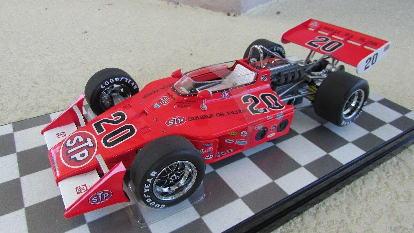 Carousel 1 Gordon Johncock STP Patrick Eagle Offy 1973 Indy 500 ganador 1 18 Nuevo En Caja