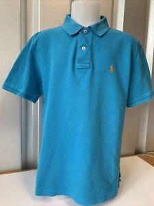 Ralph Lauren Polo Shirt turquoise polo avec logo orange Med 10-12
