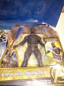 Marvel-vibranium-Gear-Erik-Killmonger-Panthere-Noire-Costume-6-034-Figure-New-Legends