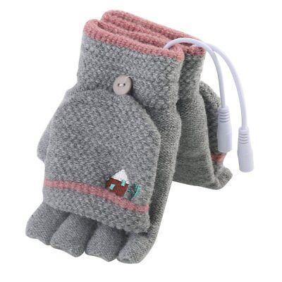 USB Heated Gloves Men Women Winter Electric Heating Warm Sports Gloves Mitten