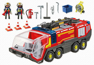 playmobil airport fire engine with lights and sound 5337 ebay