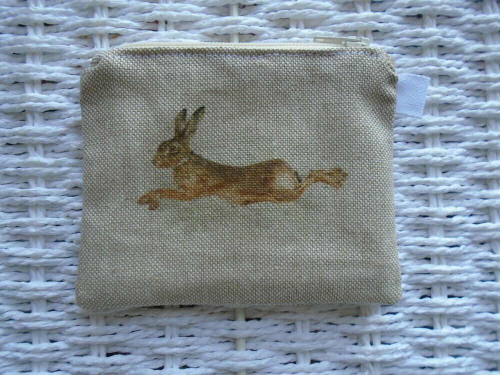 Hare Hares Coin Purse Card Holder Gift Purses Birthday Coins Wallet Birthday UK
