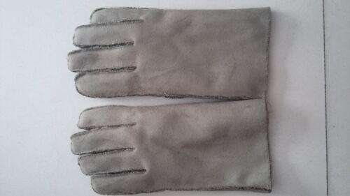 Winter Genuine Sheepskin Leather Gloves Fur Full Finger Mittens Outdoor for Men