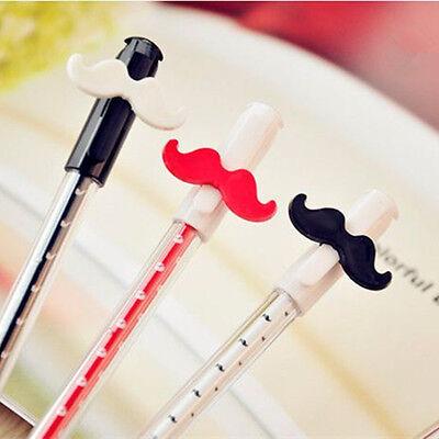 3 Moustache Ball Pen Stationery Writing 0.38 Ballpoint Black Ink School Office