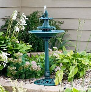 Beau Image Is Loading Outdoor Bird Bath Water Fountain 3 Tier Antique