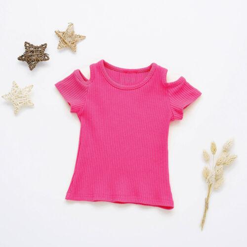 Kids Girls Soft Short Sleeve Blouse Tops T-Shirt Summer Casual Tops Clothes Gift
