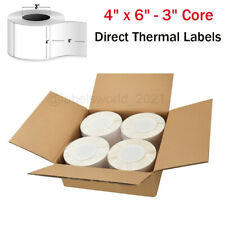 8000 4 X 6 Direct Thermal Shipping Blank Labels 3 Core For Zebra Printer