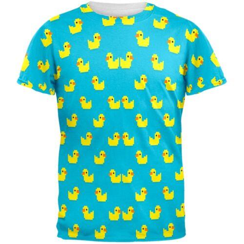 8 Bit Rubber Ducks All Over Adult T-Shirt