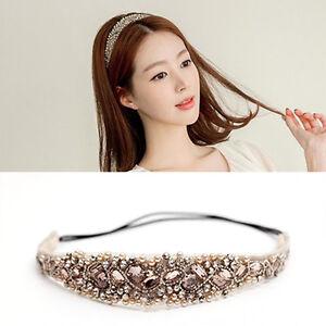BIN-Women-Elastic-Rhinestone-Hairband-Pearl-Headband-Party-Wedding-Hair-Band