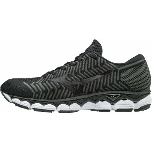 Black Mens Mizuno Waveknit S1 Mens Running Shoes
