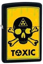 Zippo 28310 toxic skull and crossbones black matte Lighter